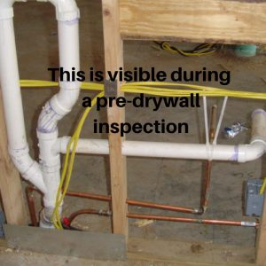 This is visible during a pre-drywall inspection